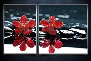 Красные орхидеи. Размер - 16 х 24 см ; 26 х 24 см.