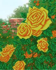 Жёлтые розы. Размер - 32 х 26 см.