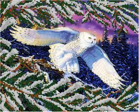 Полярная сова. Размер - 32 х 26 см.