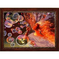 "Конёк | Рисунок на ткани ""Иллюзия"" (по картине Ж.Уолл). Размер - 39 х 29 см"