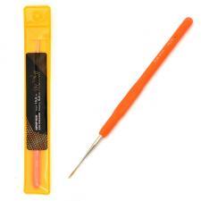 Крючок для вязания Maxwell Gold односторонний с золотой головкой, 0,8 мм, никель/оранжевый