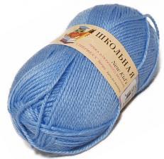 Пехорка | Пряжа Школьная (100% акрил) 50г/150м цв.520 голубая пролеска