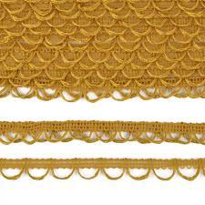 Тесьма отделочная с петлями UU шир.18-19мм цвет 120 горчичный