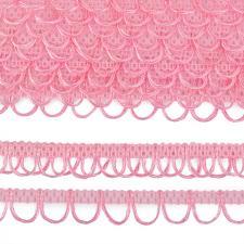 Тесьма отделочная с петлями UU шир.18-19мм цвет 132 светло-розовый