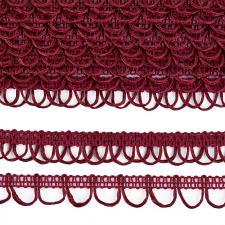 Тесьма отделочная с петлями UU шир.18-19мм цвет 171 бордовый