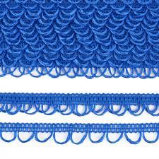 Тесьма отделочная с петлями UU шир.18-19мм цвет 207 ярко-голубой