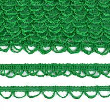Тесьма отделочная с петлями UU шир.18-19мм цвет 235 зелёный