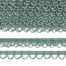 Тесьма отделочная с петлями UU шир.18-19мм цвет 312 оливковый