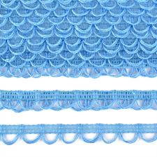 Тесьма отделочная с петлями UU шир.18-19мм цвет 319 голубой