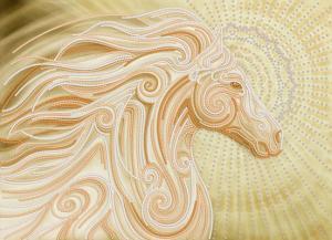Маричка | Золотой конь. Размер - 36 х 26 см
