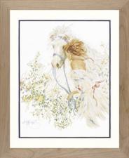 Lanarte (Ланарте) | Horse and Flowers/Лошадь и цветы. Размер - 39 х 49 см