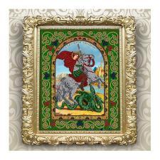Вдохновение | Схема для вышивки бисером БГИ4005 Святой Великомученик Георгий Победоносец. Размер - 20,5 х 25 см
