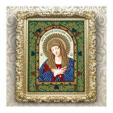 Вдохновение | Схема для вышивки бисером БГИ4007 Образ Пресвятой Богородицы Умиление. Размер - 20,5 х 25 см