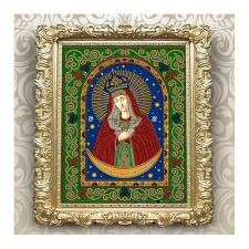 Вдохновение | Схема для вышивки бисером БГИ4008 Образ Пресвятой Богородицы Остробрамская. Размер - 20,5 х 25 см