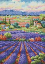 Dimensions | Fields of Lavender/Лавандовые поля. Размер - 30,4 х 40,6 см