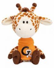Жирафик Жан в оранжевой футболке, мягкая игрушка Budi Basa. Размер - 15 см