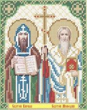 Арт Соло | Святые Кирилл и Мефодий. Размер - 13,5 х 17 см