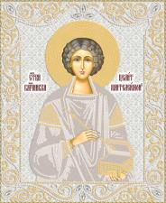 Маричка | Святой Великомученик Пантелеймон Целитель (серебро). Размер - 26 х 32 см