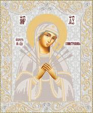 Маричка | Образ Пресвятой Богородицы Семистрельная (серебро). Размер - 26 х 32 см