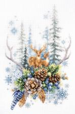 Чудесная игла | Дух зимнего леса. Размер - 17 х 27 см
