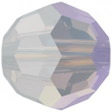 "Бусина стеклянная гранёная ""Сваровски"" 5000 Shimmer цвет бело-розовый (white opal 234 SHIM)"