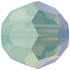 "Бусина стеклянная гранёная ""Сваровски"" 5000 Shimmer цвет зелёно-жёлтый (chrysolite 294 SHIM)"