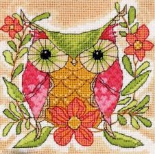 Dimensions | Whimsical Owl/Причудливая сова. Размер - 12,7 х 12,7 см