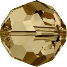 """Бусина стеклянная гранёная """"Сваровски"""" 5000 кристалл золото (light colorado topaz 246)"""