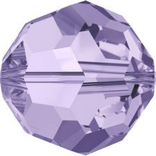 """Бусина стеклянная гранёная """"Сваровски"""" 5000 кристалл бледно-фиолетовый (violet 371), 4 мм"""
