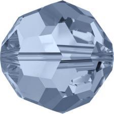 """Бусина стеклянная гранёная """"Сваровски"""" 5000 кристалл грязно-голубой (denim blue 266), 4 мм"""