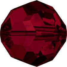 """Бусина стеклянная гранёная """"Сваровски"""" 5000 кристалл тёмно-красный (siam 208)"""