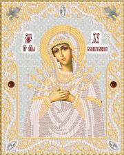 Маричка | Семистрельная Пресвятая Богородица (серебро). Размер - 14 х 18 см