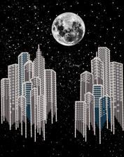 Маричка | Ночной город. Размер - 26 х 33 см