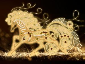 Маричка | Волшебная лошадь. Размер - 35 х 26 см