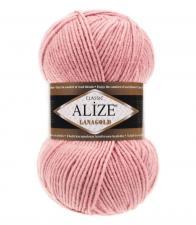 Пряжа для вязания Ализе LanaGold (49% шерсть, 51% акрил) 100г/240м цв.161 пудра