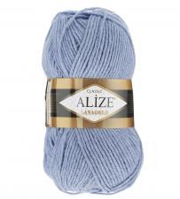 Пряжа для вязания Ализе LanaGold (49% шерсть, 51% акрил) 100г/240м цв.221 светлый джинс