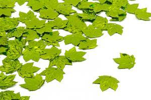 Пайетки Кленовый листок салатовый (010), 22 х 22 мм, уп. 25 шт