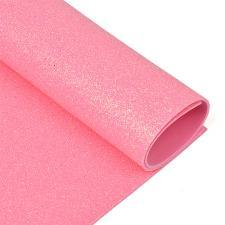 Глиттерный фоамиран (светло-розовый),20х30 см,толщина 2 мм