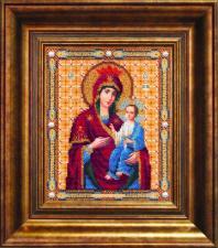 Чаривна мить | Икона Божьей Матери Иверская. Размер - 18,1 х 22,1 см