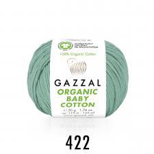 Пряжа Organic baby cotton (100% органический хлопок, 50 гр/115 м),422 бледно-бирюзовый