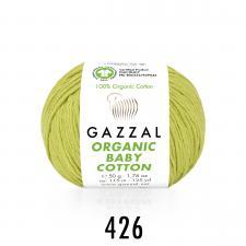 Пряжа Organic baby cotton (100% органический хлопок, 50 гр/115 м),426 фисташковый