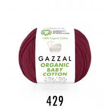 Пряжа Organic baby cotton (100% органический хлопок, 50 гр/115 м),429 ягодный