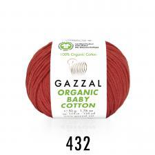 Пряжа Organic baby cotton (100% органический хлопок, 50 гр/115 м),432 красный