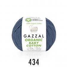 Пряжа Organic baby cotton (100% органический хлопок, 50 гр/115 м),434 светло-джинсовый
