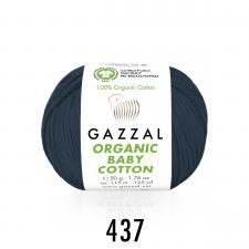 Пряжа Organic baby cotton (100% органический хлопок, 50 гр/115 м),437 тёмный джинс