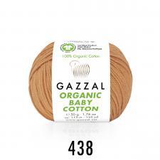 Пряжа Organic baby cotton (100% органический хлопок, 50 гр/115 м),438 пудра