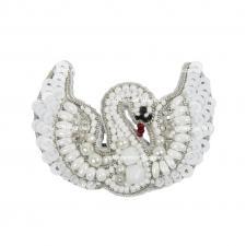 """Набор для изготовления броши Crystal Art """"Лебедь"""". Размер - 5,5 х 4 см"""