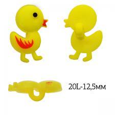 Пуговица пластик Цыплёнок TBY.P-3328 цв15 жёлтый 20L-12,5мм, на ножке