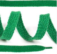 Шнурки плоские 10мм х/б дл.150см цв.018 светло-зелёный, 1 комп.