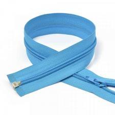 Молния MaxZipper пластиковая спираль №5-N разъёмная однозамковая цв.F184 голубой, 70 см